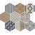 APE DECOWOOD WHITE MIX 25X29 matná dlažba 10 mm dekor