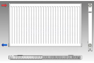 KORAD radiátor panelový bočné pripojenie 11K 300X0600