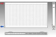 KORAD radiátor panelový bočné pripojenie 21K 300X1600