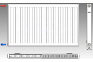 KORAD radiátor panelový bočné pripojenie 21K 600X0400