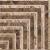 APE TACO COMBA NATURAL 7X7 lesklý obklad 10mm dekor roh