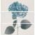 APE DECOR SET (3) HORTENSIA 20X60 lesklý obklad 10mm dekor kvet
