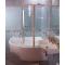 Ravak VSK2 ROSA 150 L vaňová zástena, Ľavá, otočný a pevný diel, Biela, číre sklo