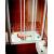 Ravak AVDP3-120 vaňová zástena, posuvné trojdielne dvere, Biele, sklo vzor Grape